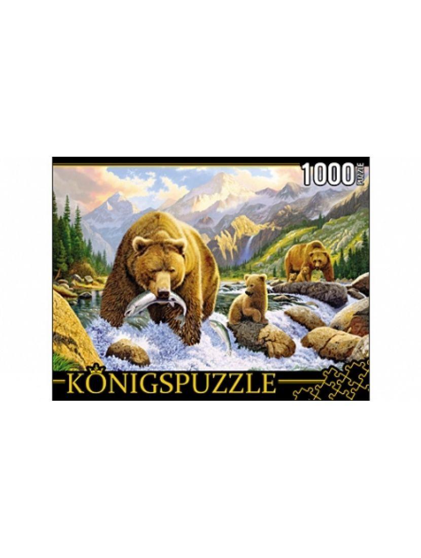 Пазл «Медведи на рыбалке» 1000 элементов