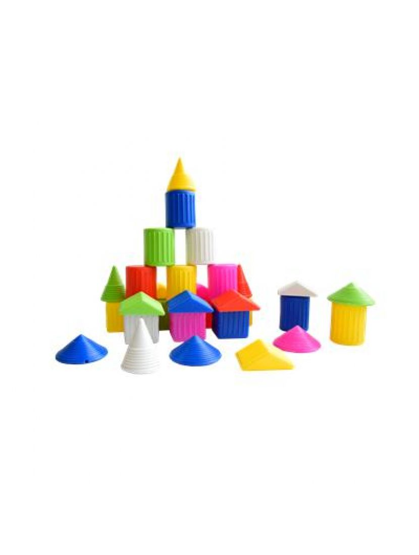 Конструктор  «Городок»  в пластмассовой банке