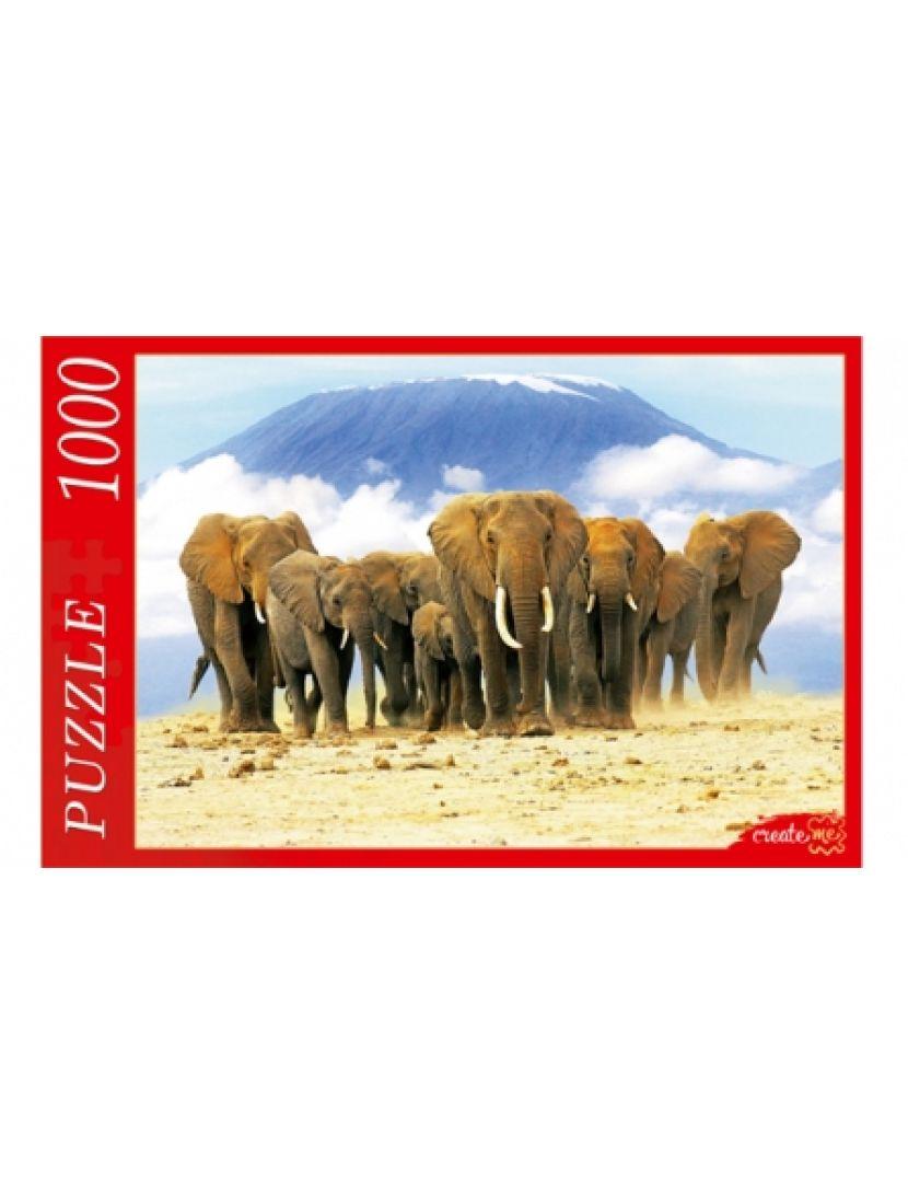 Пазл «Слоны и горная вершина» 1000 элементов