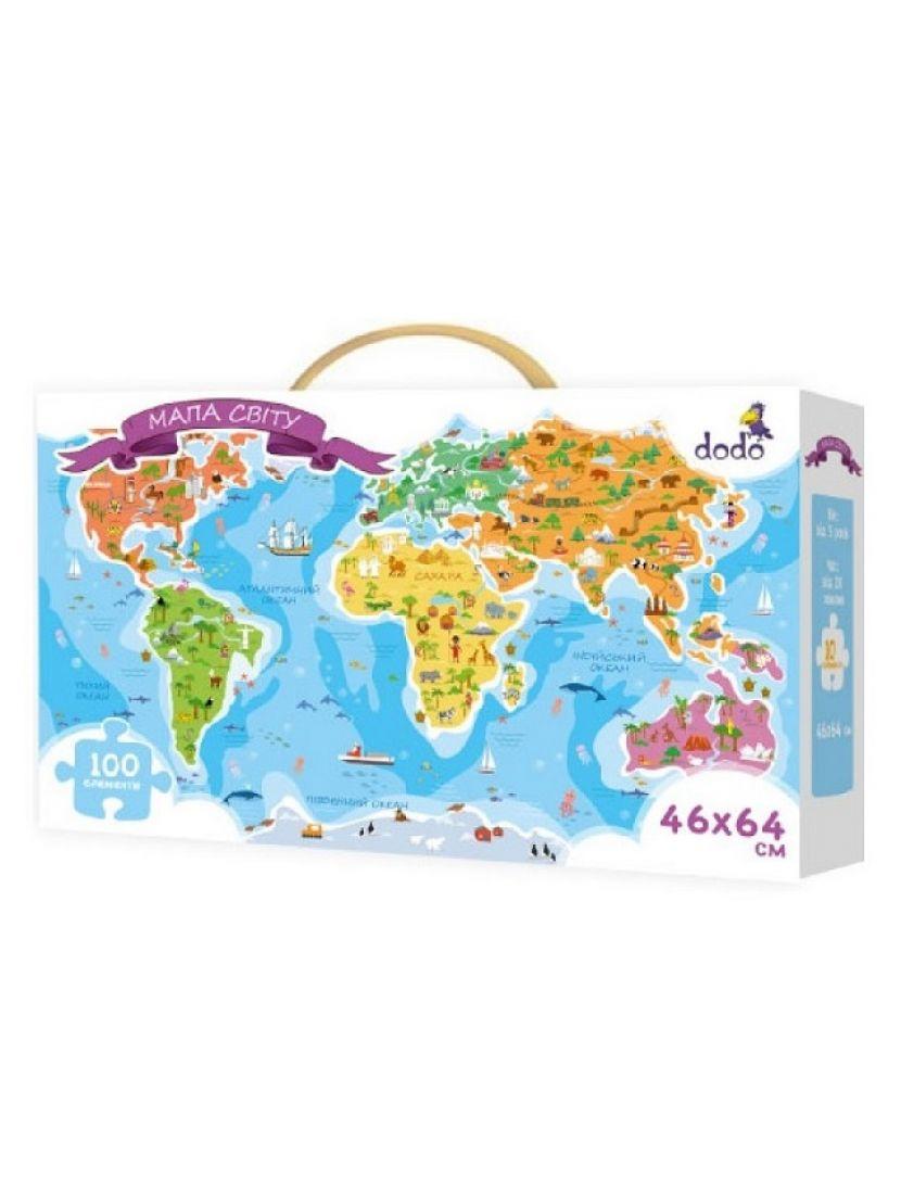 Пазл «Карта мира» 100 элементов