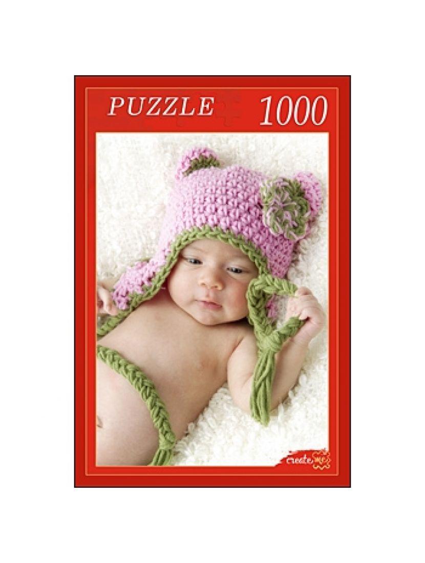 Пазл «Малыш  в вязаной шапочке» 1000 элементов