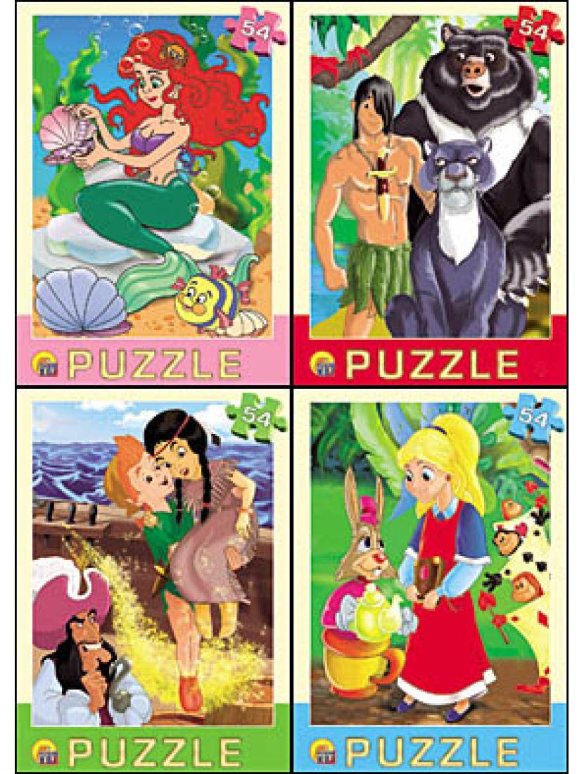 Пазл «Любимые мультфильмы» 54 элемента